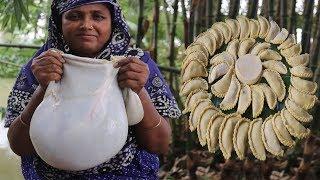 Goat Intestine Recipe Traditional Vuri Puli Pitha Curry Amazing Spicy Intestine Cooking Village Food