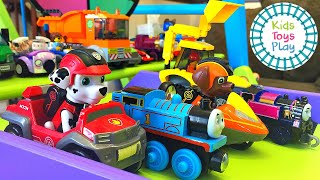 Thomas and Friends Mystery Wheel Downhill Races with Paw Patrol and Lego