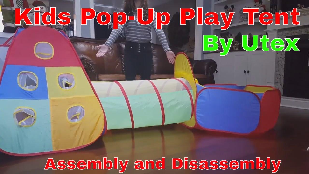 Utex Kids Pop Up Play Tent and Ball Bin Assembly and Disassembly & Utex Kids Pop Up Play Tent and Ball Bin Assembly and Disassembly ...