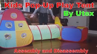 Utex Kids Pop Up Play Tent and Ball Bin Assembly and Disassembly