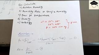 psychrometry nptel | psychrometry solved questions | psychrometric chart problems thumbnail