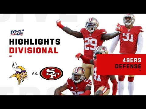 49ers Defense DOMINATES Vikings w/ 6 Sacks! | NFL 2019 Highlights