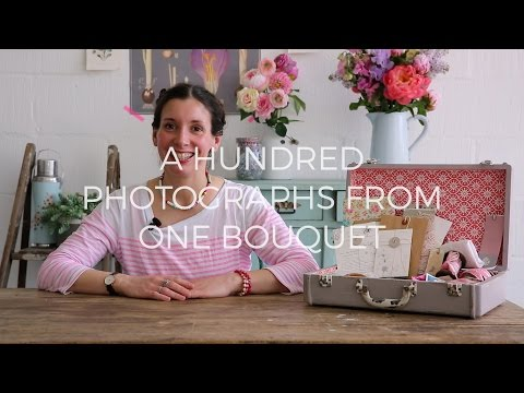 A hundred photos from one bouquet of flowers