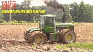 Stuck in the Mud: John Deere 8630 4wd Tractor
