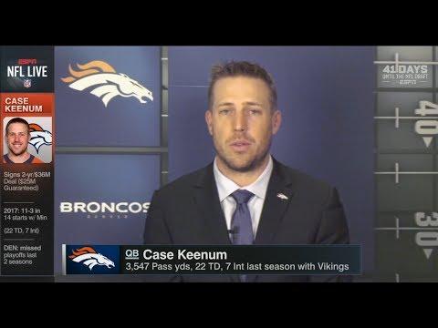 Case Keenum Joins NFL Live After Introduction at Denver Broncos - Full Interview HD | Mar 16, 2018