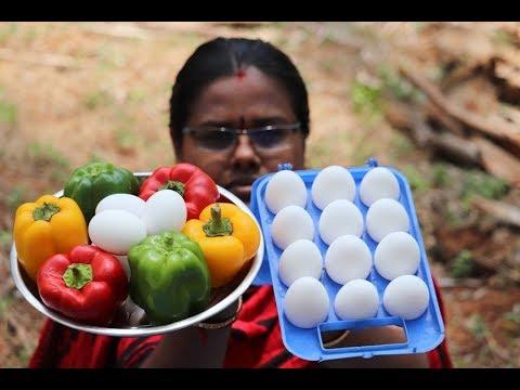 Capsicum Scrambled Egg Recipe / Easy Bell Pepper Egg Podimas / Food Money Food