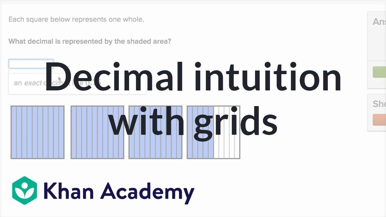 Decimal intuition with grids (examples) | Decimals | 4th grade ...