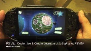 PS Vita - Customize & Create Levels in Little Big Planet PSVITA