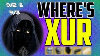 where s xur xurs location today september 2 september 3 9 2 9 3
