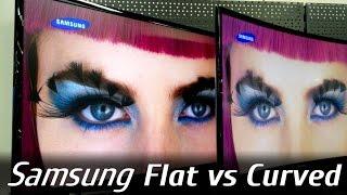 Samsung Flat vs Curved Monitor - LS27F350 vs LC27F390 (FHD)