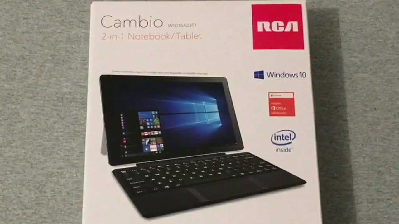 RCA Cambio 2-In-1 Notebook/Tablet Unboxing