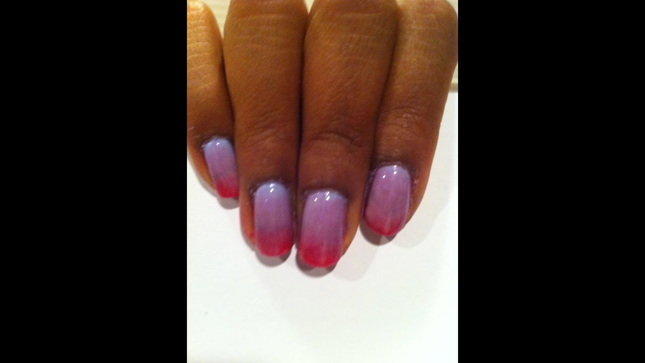 How I: Fade w/ Gel Polish - YouTube
