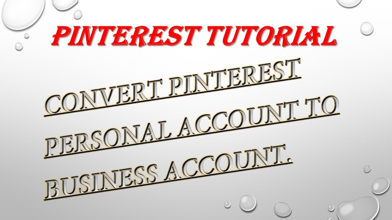 Pinterest How To Convert Personal Account Business Easy Tutorial