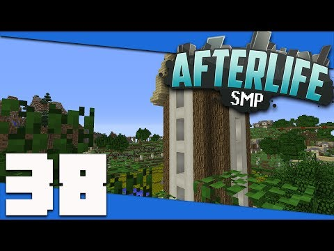 Minecraft: AfterLife SMP - S2 38 - Building a Farm Storage Silo Tower! | Minecraft 1.12 SMP