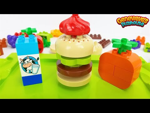 Let's open our own Hamburger Shop with Lego Duplo Food Brick
