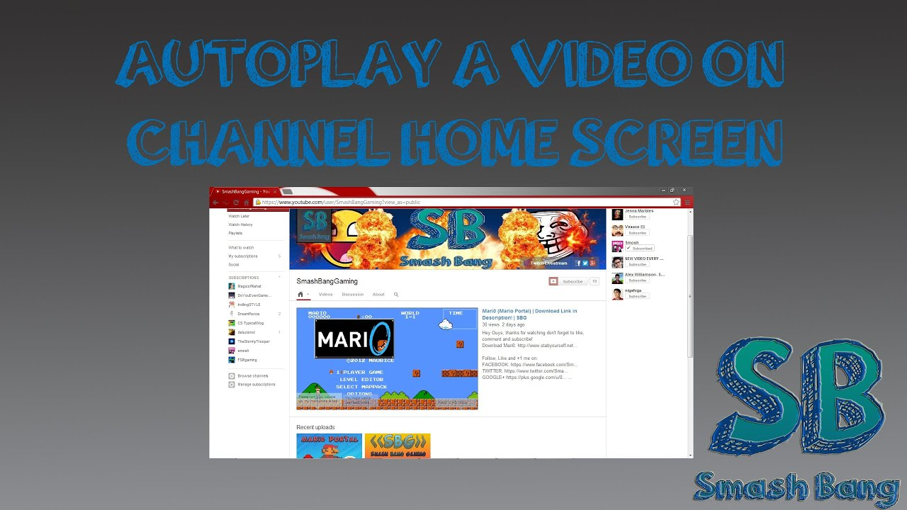 How To Make A Video Autoplay On Your Channel