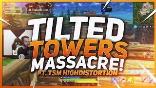 TSM Hamlinz - TILTED TOWERS MASSACRE!! Ft. TSM HighDistortion (Fortnite Battle Royale)
