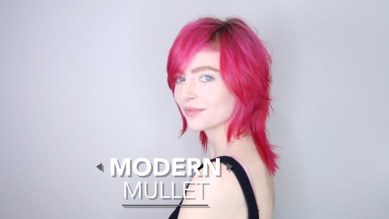 Hair Tutorial How To Do A Modern Mullet Haircut Youtube