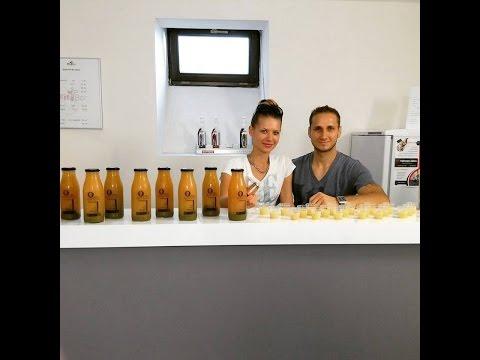 Andrea Bitomská a Daniel Škubal - Black Kale - raw bio šťávy za studena