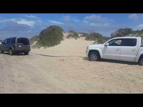 amarok got stuck on beach sand