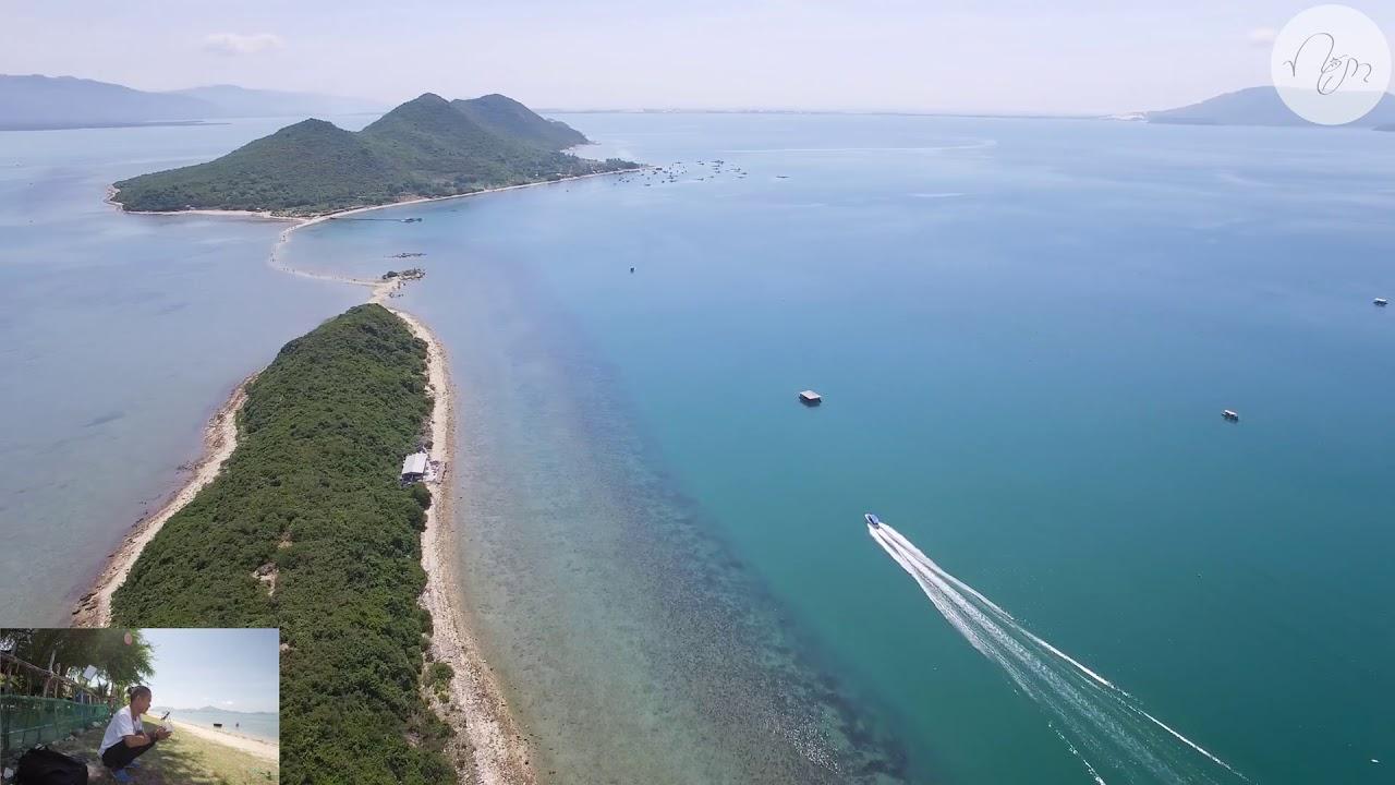 Con đường đi bộ trên biển Đảo Điệp Sơn Nha Trang Khánh Hoà /by:flycam 4k Hd