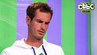 Andy Murray interviewed by Hacker! Wimbledon 2014 - CBBC
