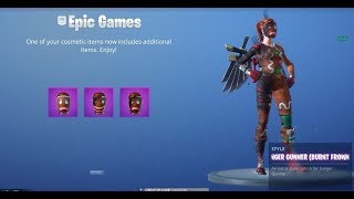 NEW STYLE SKIN FORTNITE JENGIBRE GALLEY +MOCHILAS