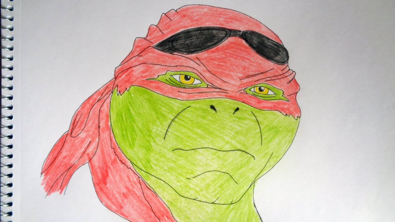 How to draw Raphael from ninja turtles movie 2014 - YouTube