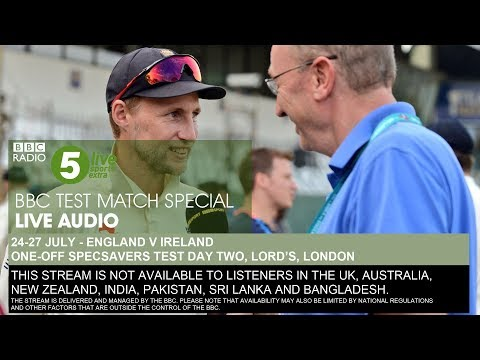 BBC Test Match Special Audio - England V Ireland, One-off Test, Day Two