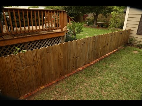 Brick Fence Border To Stop Grass And Weeds Youtube