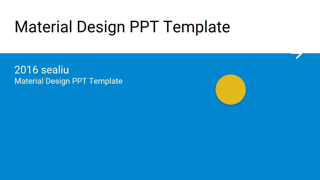 Material design powerpoint youtube material design powerpoint demo toneelgroepblik Gallery