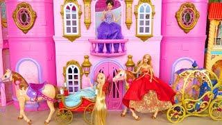 Princess Rapunzel Barbie Castle Bedroom Morning Prinzessin Puppe Chambre de Poupée Boneka putri