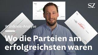 Bundestagswahl: Wo die Parteien ihre Hochburgen haben