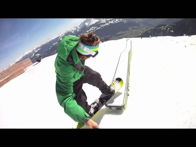 Surfanic in Laax with Simon Brown