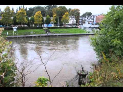 High Water on the River Weaver in Northwich Cheshire
