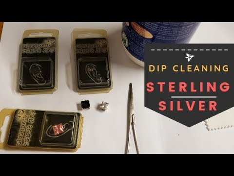 How I Clean 925 Sterling Silver Jewelry - Silver Dip Jewellery Cleaning