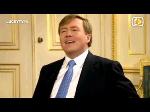 Willy : Ik ben geen nummer - Koning Willem-Alexander in LuckyTV - de Lach van Máxima - HD
