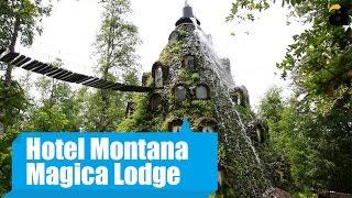 видео Montana Magica Lodge – отель-вулкан в Чили