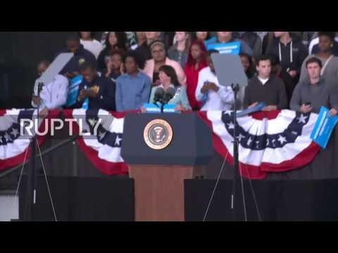 LIVE: Obama campaigns for Hillary in North Carolina