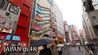 【4K】Rainy walk from Tokyo station to Akihabara