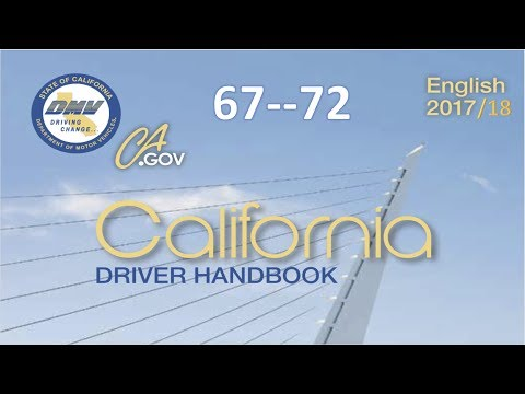 California Driver Handbook | Audio...(REAL VOICE)...DMV.....67--72