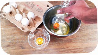 How To Separate Egg Yolk From Egg White! LIFE HACK | Eier - Eigelb trennen Trick | 如何巧妙分离蛋清蛋黄