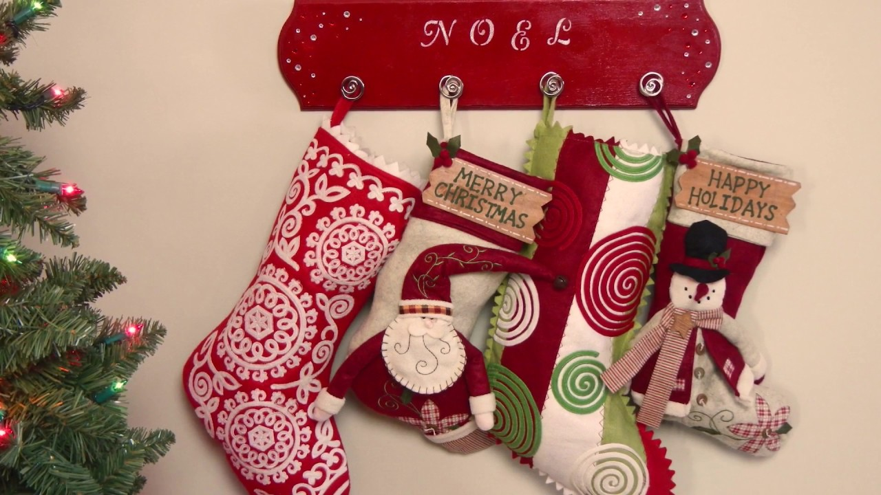 diy project how to make a stocking holder youtube