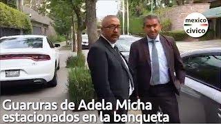 Arne aus den Ruthen | Guaruras de Adela Micha estacionados en la banqueta