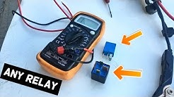 HOW TO TEST RELAY ANY RELAY