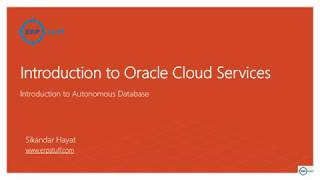 Oracle Cloud Services - Autonomous Database Creation and Remote Connectivity
