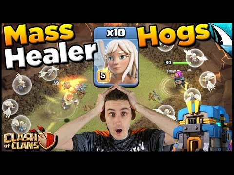 I Used A Mass Healer Hog Attack In CWL!!! 10 Healers & 18 Hogs | Clash Of Clans