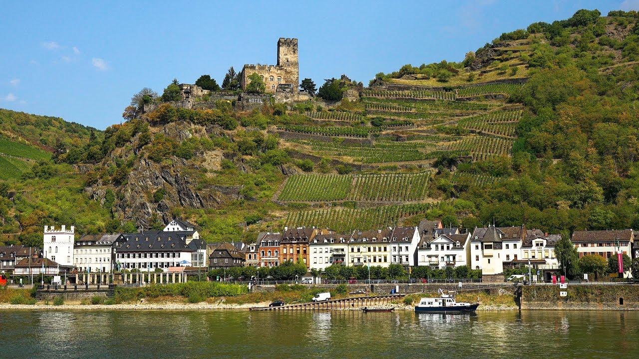 Rhine River Valley (Koblenz to Rudesheim), Germany in 4K Ultra HD - YouTube