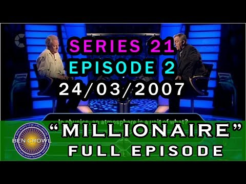 Who Wants to be a Millionaire Classic Reruns 24th March 2007 Series 21