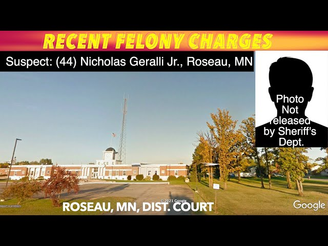 Recent Felony Charges In Roseau County District Court